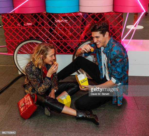 Tess Ward and Isaac Carew attend W Hotels popup in partnership with Chef Ning Ma of Mamalan to celebrate the opening of W Shanghai The Bund at Kings...