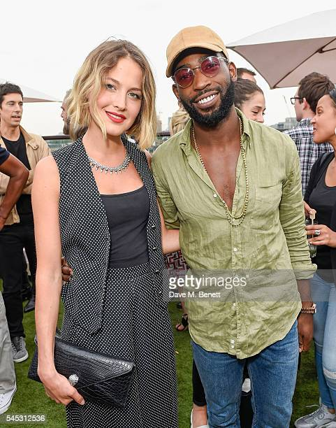 Tess Ward and Tinie Tempah attend Warner Music Group Summer party in association with British GQ and Quintessentially on July 6 2016 in London England