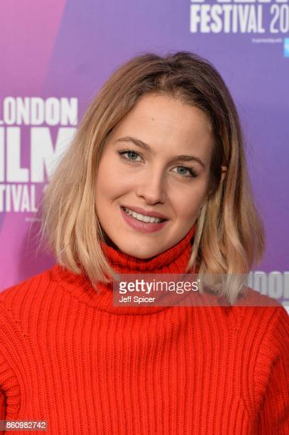 Tess Ward arrives at the Premiere of Jane during the 61st BFI London Film Festival at Picturehouse Central on October 13 2017 in London England