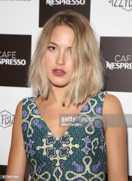 Tess Ward attending the Cafe Nespresso Soho Launch Party at Cafe Nespresso on July 11 2017 in London England