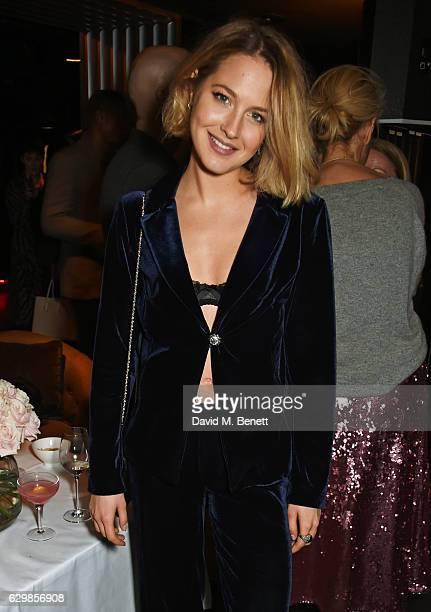 Tess Ward attends a reception in honour of 'La La Land' with Damien Chazelle Emma Stone and Justin Hurwitz at The Arts Club on December 14 2016 in...