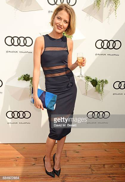 Tess Ward attends day one of the Audi Polo Challenge at Coworth Park on May 28 2016 in London England