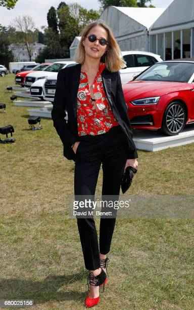 Tess Ward attends the Audi Polo Challenge at Coworth Park on May 7 2017 in London United Kingdom