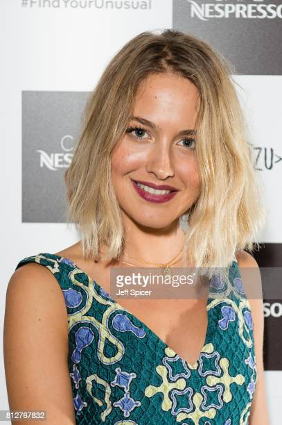 Tess Ward attends the Cafe Nespresso Soho Launch Party at Cafe Nespresso on July 11 2017 in London England