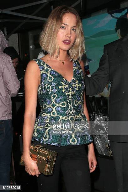 Tess Ward attends the Cafe Nespresso store launch party in Soho on July 11 2017 in London England