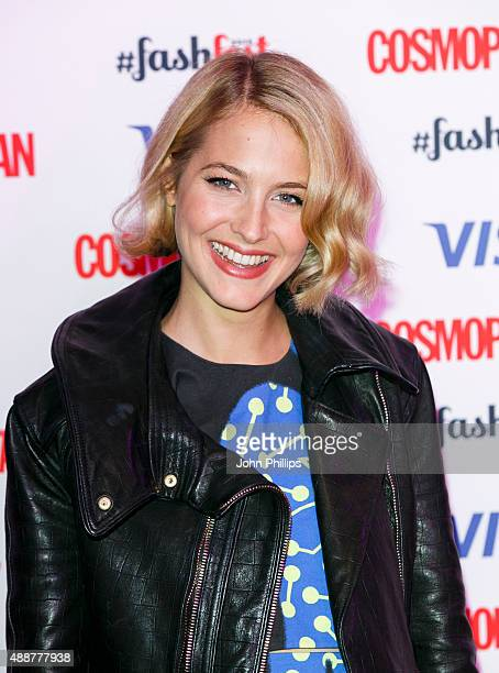 Tess Ward attends the Catwalk to Cosmopolitan fashion show as part of the Cosmopolitan FashFest at Battersea Evolution on September 17 2015 in London...