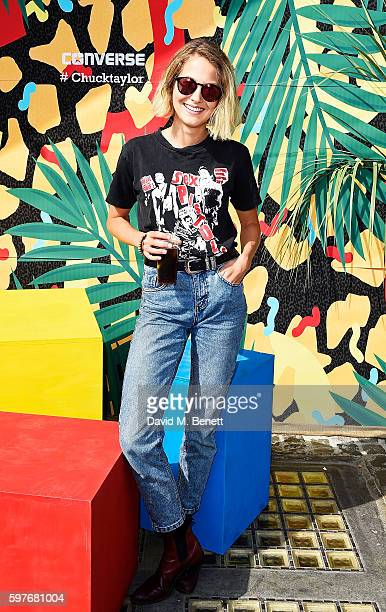 Tess Ward attends the Converse party at Notting Hill Carnival to celebrate the new carnival inspired Converse Custom Chuck Taylor All Stars designed...