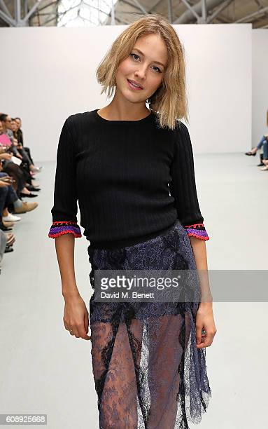 Tess Ward attends the Emilio De La Morena show during London Fashion Week Spring/Summer collections 2017 on September 20 2016 in London United Kingdom
