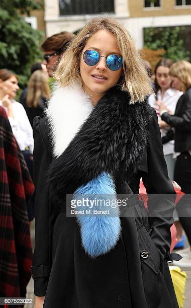 Tess Ward attends the Malone Souliers London Fashion Week SS17 Presentation on September 18 2016 in London England