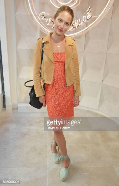 Tess Ward attends the opening of the new Chloe London flagship store on New Bond Street on June 14 2017 in London England