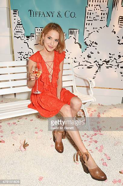 Tess Ward attends the Tiffany Co immersive exhibition 'Fifth 57th' at The Old Selfridges Hotel on July 1 2015 in London England