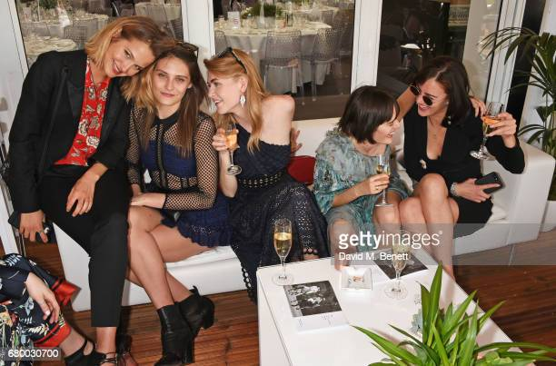 Tess Ward Charlotte Wiggins Eve Delf Sam Rollinson and Eliza Cummings attend the Audi Polo Challenge at Coworth Park on May 7 2017 in Ascot United...