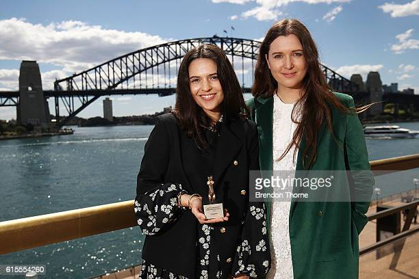 Tessa and Beth MacGraw pose after being awarded for The Best Australian Emerging Designer Laureate at the Australian Fashion Laureate Awards on...