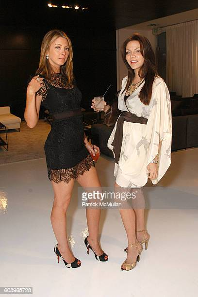 Tessa Benson and Cyia Batten attend Allegra Hicks and Divine Design Trunk Show to support Project Angel Food's Divine Design 2007 at Minotti Showroom...