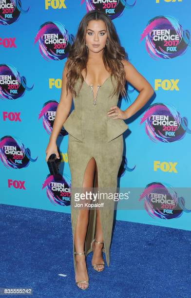 Tessa Brooks arrives at the Teen Choice Awards 2017 at Galen Center on August 13 2017 in Los Angeles California