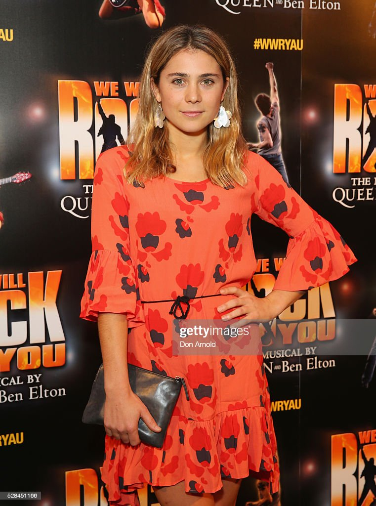 Tessa de Josselin arrives ahead of We Will Rock You Opening Night at Lyric Theatre, Star City on May 5, 2016 in Sydney, Australia.