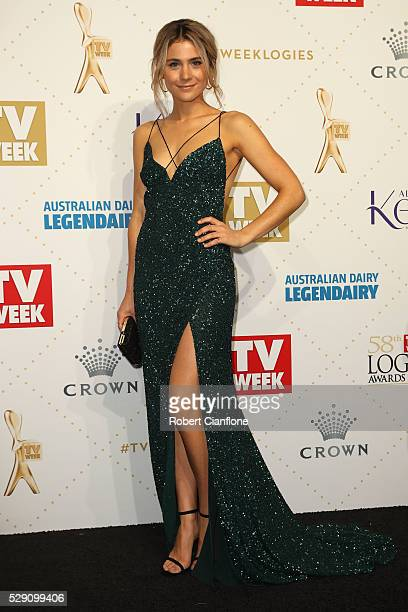Tessa De Josselin arrives at the 58th Annual Logie Awards at Crown Palladium on May 8 2016 in Melbourne Australia