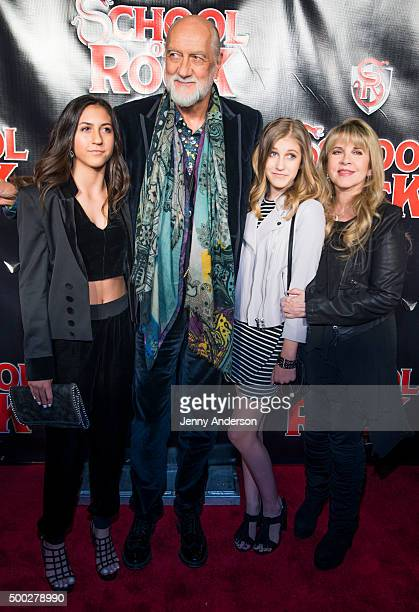 Tessa Fleetwood Mick Fleetwood Ruby Fleetwood and Stevie Nicks attend 'School Of Rock' Broadway Opening Night at Winter Garden Theatre on December 6...