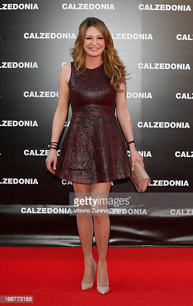 Tessa Gelisio attends Calzedonia Summer Show Forever Together on April 16 2013 in Rimini Italy