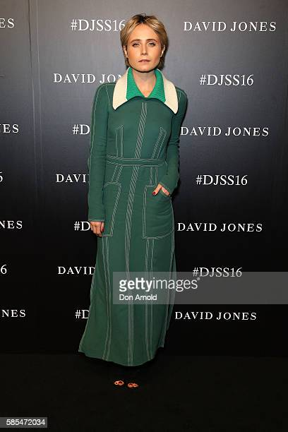 Tessa James arrives ahead of the David Jones Spring/Summer 2016 Fashion Launch at Fox Studios on August 3 2016 in Sydney Australia