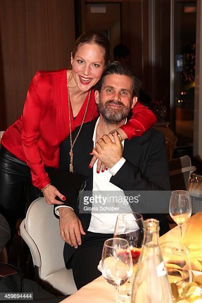 Tessa Mittelstaedt Steffen Groth during the ARD advent dinner hosted by the program director of the tv station Erstes Deutsches Fernsehen at Hotel...