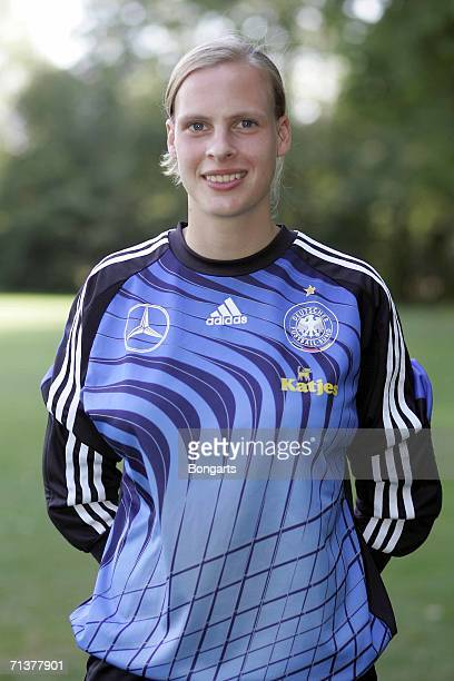 Tessa Rinkes of Team Germany Under 21 poses during the Team Presentation at the Sportschule Wedau on July 4 2006 in Duisburg Germany