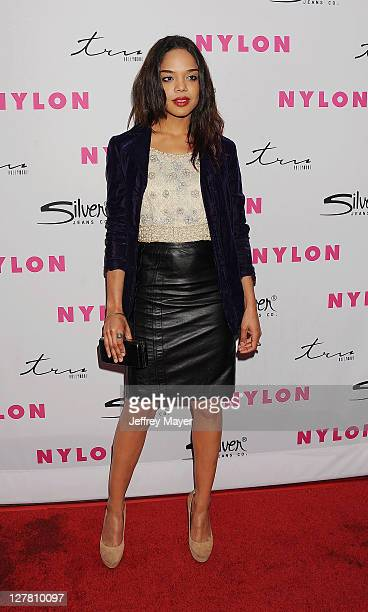 Tessa Thompson arrives at NYLON Magazine's 12th Anniversary Issue Party With The Cast of Sucker Punch at Tru Hollywood on March 24 2011 in Hollywood...