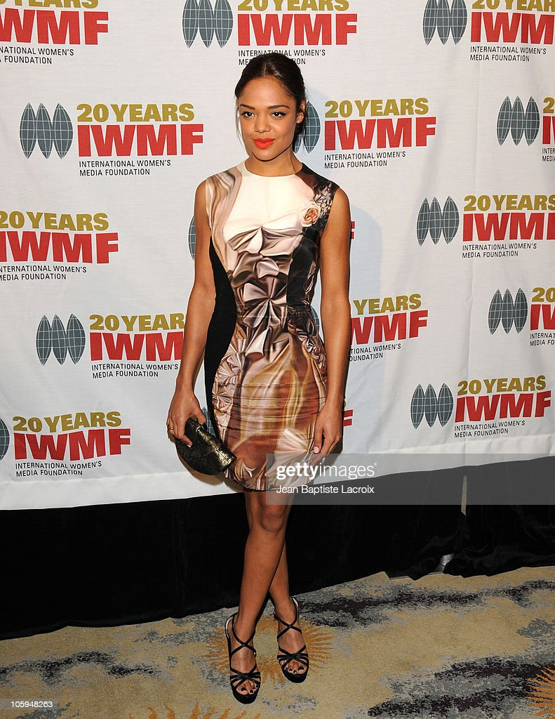 Tessa Thompson arrives at The International Women's Media Foundation's 'Courage In Journalism' awards held at Beverly Hills Hotel on October 21, 2010 in Beverly Hills, California.
