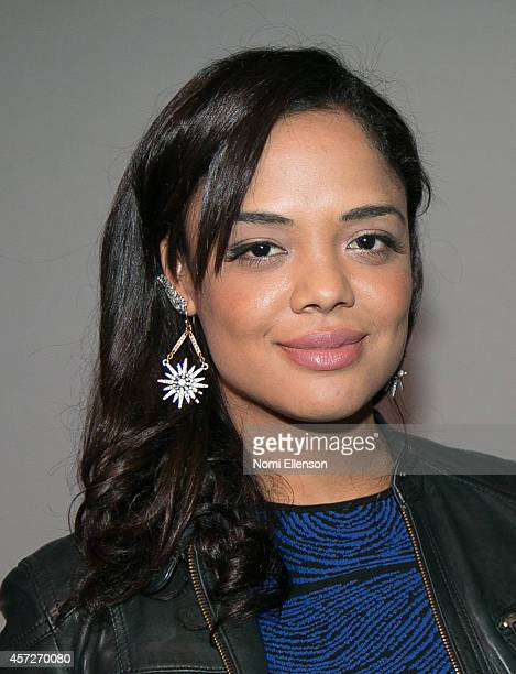 Tessa Thompson attends Apple Store Soho Presents Meet the Filmmakers Justin Simien And Tessa Thompson 'Dear White People' at Apple Store Soho on...
