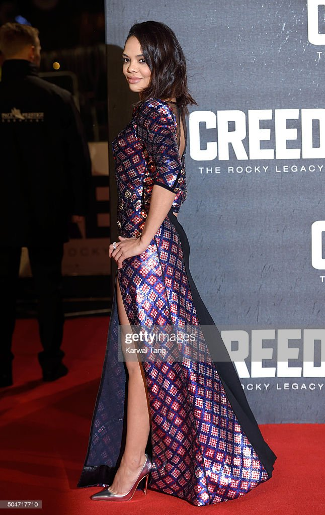 Tessa Thompson attends the European Premiere of 'Creed' on January 12, 2016 in London, England.