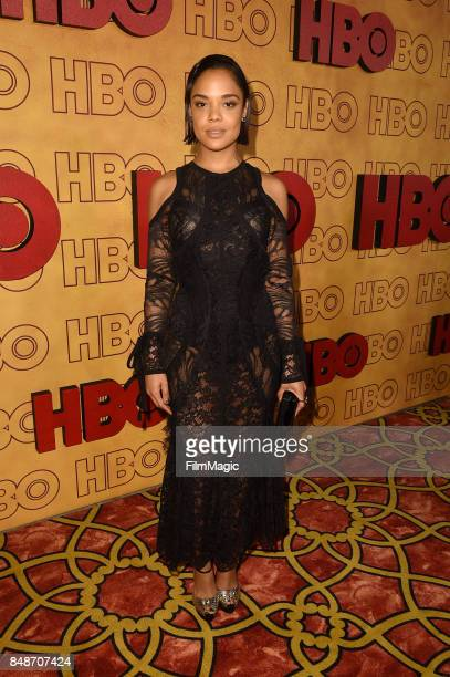 Tessa Thompson attends the HBO's Official 2017 Emmy After Party at The Plaza at the Pacific Design Center on September 17 2017 in Los Angeles...