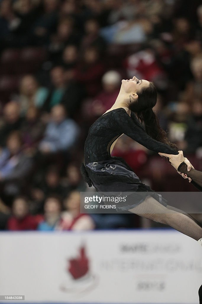 Tessa Virtue And Her Partner Scott Moir of Canada skate their free dance at the 2012 Skate Canada International ISU Grand Prix event in Windsor on October 27, 2012. AFP PHOTO/Geoff Robins