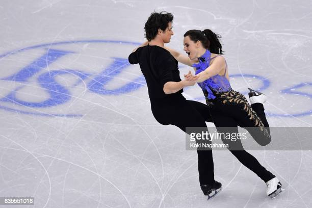 Tessa Virtue and Scott Moir of Canada comoete in the Ice Dance Short Dance during ISU Four Continents Figure Skating Championships Gangneung Test...