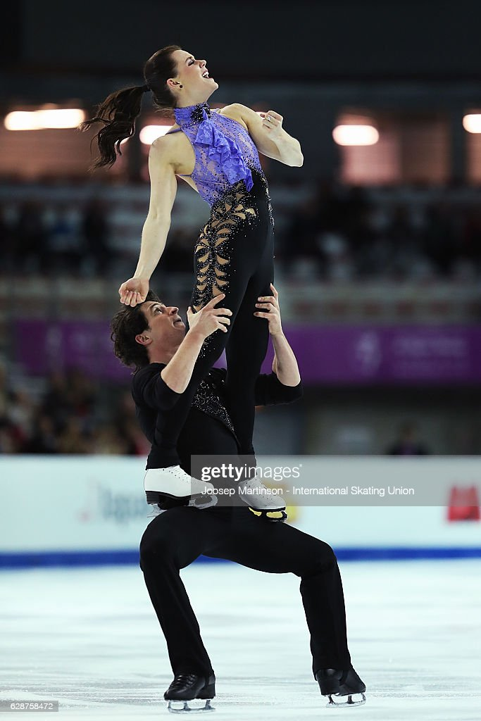 Tessa Virtue and Scott Moir of Canada compete during Senior Ice Dance Short Dance on day two of the ISU Junior and Senior Grand Prix of Figure Skating Final at Palais Omnisports on December 9, 2016 in Marseille, France.