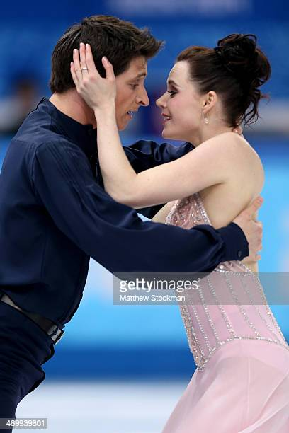 Tessa Virtue and Scott Moir of Canada compete in the Figure Skating Ice Dance Free Dance on Day 10 of the Sochi 2014 Winter Olympics at Iceberg...
