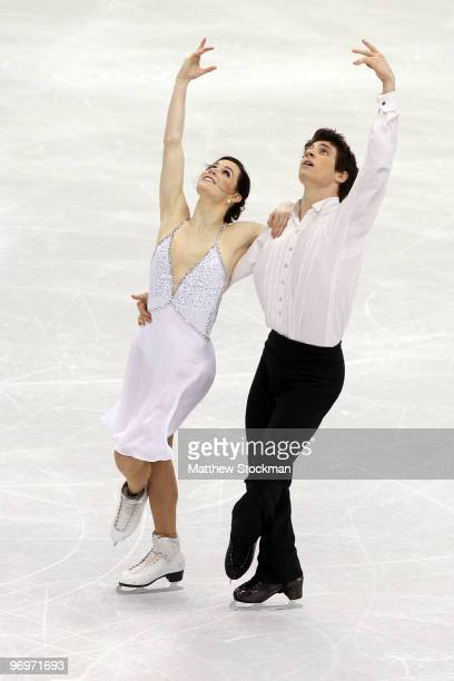 Tessa Virtue and Scott Moir of Canada compete in the free dance portion of the Ice Dance competition on day 11 of the 2010 Vancouver Winter Olympics...
