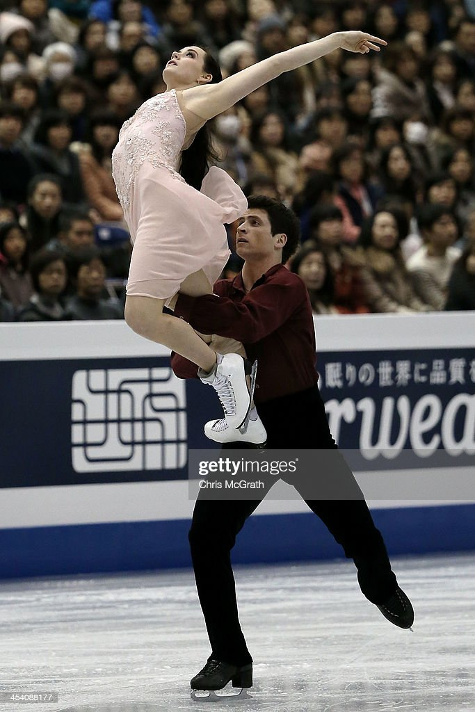 <a gi-track='captionPersonalityLinkClicked' href=/galleries/search?phrase=Tessa+Virtue&family=editorial&specificpeople=793314 ng-click='$event.stopPropagation()'>Tessa Virtue</a> and <a gi-track='captionPersonalityLinkClicked' href=/galleries/search?phrase=Scott+Moir&family=editorial&specificpeople=793313 ng-click='$event.stopPropagation()'>Scott Moir</a> of Canada compete in the Ice Dance Free Dance Final during day three of the ISU Grand Prix of Figure Skating Final 2013/2014 at Marine Messe Fukuoka on December 7, 2013 in Fukuoka, Japan.