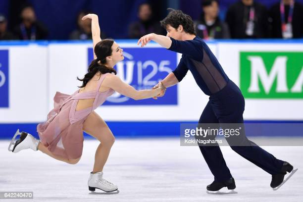 Tessa Virtue and Scott Moir of Canada compete in the Ice Dance Free Dance during ISU Four Continents Figure Skating Championships Gangneung Test...