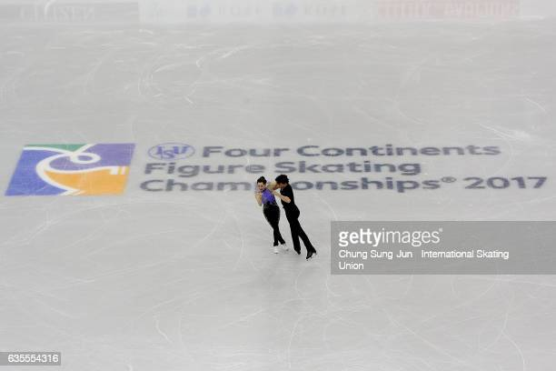 Tessa Virtue and Scott Moir of Canada compete in the Ice Dance Short during ISU Four Continents Figure Skating Championships Gangneung Test Event For...