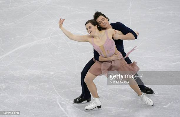 Tessa Virtue and Scott Moir of Canada perform during the ice dance free dance event at the ISU Four Continents Figure Skating Championships at the...