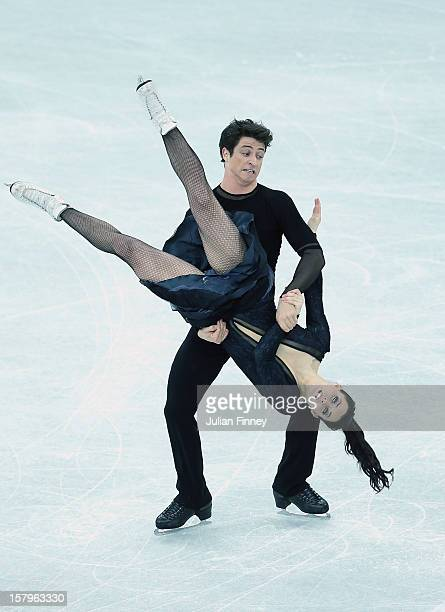 Tessa Virtue and Scott Moir of Canada perform in the Ice Dance Free Dance during the Grand Prix of Figure Skating Final 2012 at the Iceberg Skating...