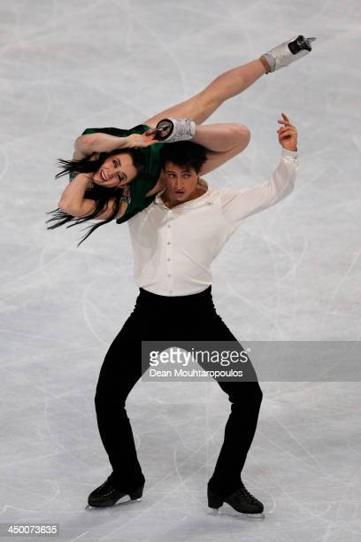 Tessa Virtue and Scott Moir of Canada perform in the Ice Dance Free Dance during day two of Trophee Eric Bompard ISU Grand Prix of Figure Skating...