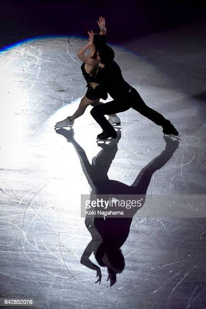 Tessa Virtue and Scott Moir of Canada pserforms in the Exhibition program during ISU Four Continents Figure Skating Championships Gangneung Test...