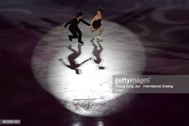 Tessa Virtue and Scott Moir of Canada skate in the Exhibition program during ISU Four Continents Figure Skating Championships Gangneung Test Event...