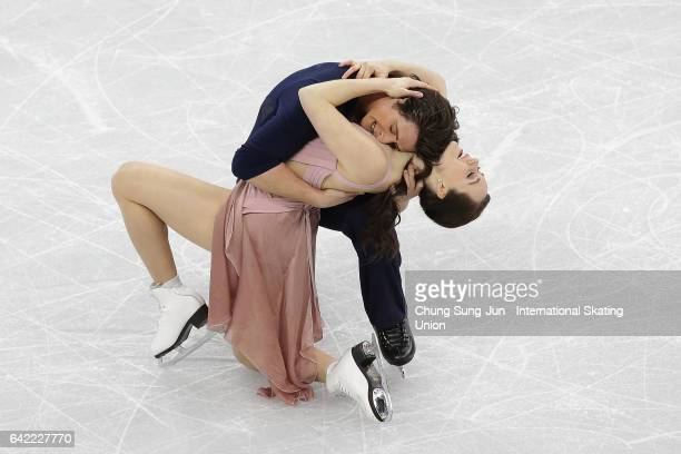 Tessa Virtue Scott Moir of Canada compete in the Ice Dance Free program during ISU Four Continents Figure Skating Championships Gangneung Test Event...