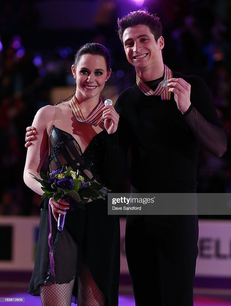 Tessa Vitue and Scott Moir of Canada skate in the Ice Dance Free Dance Program during the 2013 ISU World Figure Skating Championships at Budweiser Gardens on March 16, 2013 in London, Ontario, Canada.