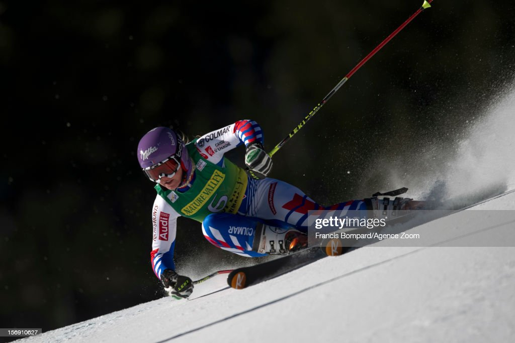 Tessa Worley of France competes during the Audi FIS Alpine Ski World Cup Women's Giant Slalom on November 24, 2012 in Aspen, Colorado.