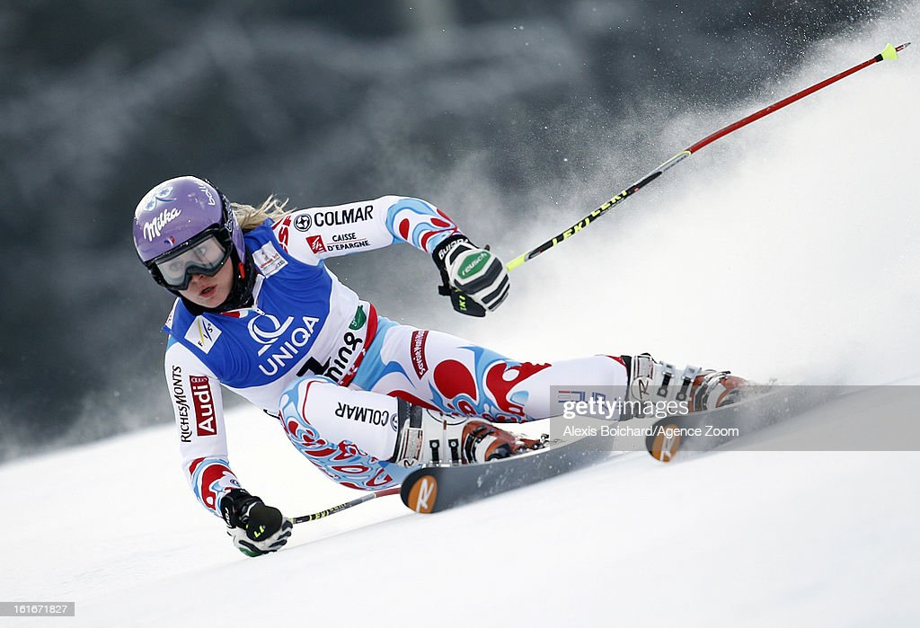 Tessa Worley of France competes during the Audi FIS Alpine Ski World Championships Women's Giant slalom on February 14, 2013 in Schladming, Austria.