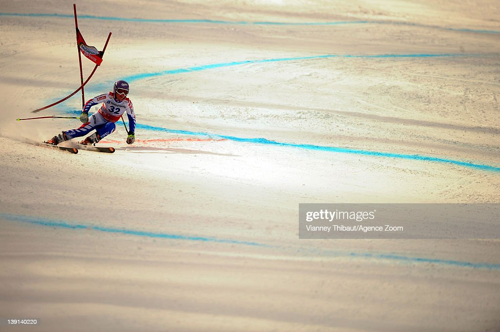 <a gi-track='captionPersonalityLinkClicked' href=/galleries/search?phrase=Tessa+Worley&family=editorial&specificpeople=855344 ng-click='$event.stopPropagation()'>Tessa Worley</a> of France during the Audi FIS Alpine Ski World Cup Women's Downhill Training on February 17, 2012 in Sochi, Russia.