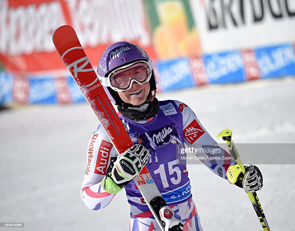 <a gi-track='captionPersonalityLinkClicked' href=/galleries/search?phrase=Tessa+Worley&family=editorial&specificpeople=855344 ng-click='$event.stopPropagation()'>Tessa Worley</a> of France during the Audi FIS Alpine Ski World Cup Women's Giant Slalom on October 24, 2015 in Soelden, Austria.